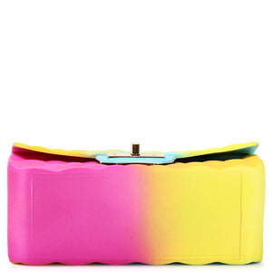 MINI QUILTED RAINBOW SILICONE SHOULDER BAG WITH CHAIN STRAP - Jenuine Handbags