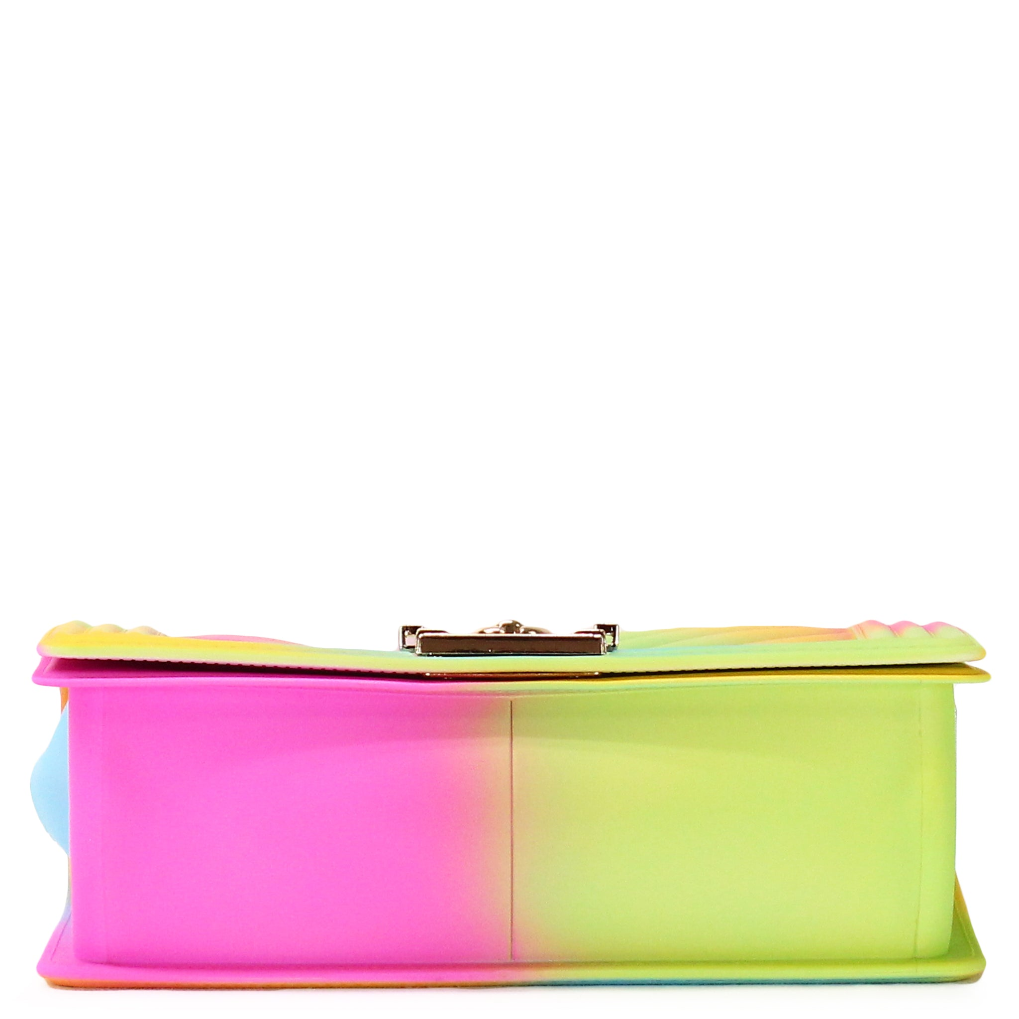 EMBOSSED RAINBOW SILICONE SHOULDER BAG - Jenuine Handbags
