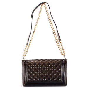 BLACK TRANSPARENT JELLY QUILTED SHOULDER BAG - Jenuine Handbags