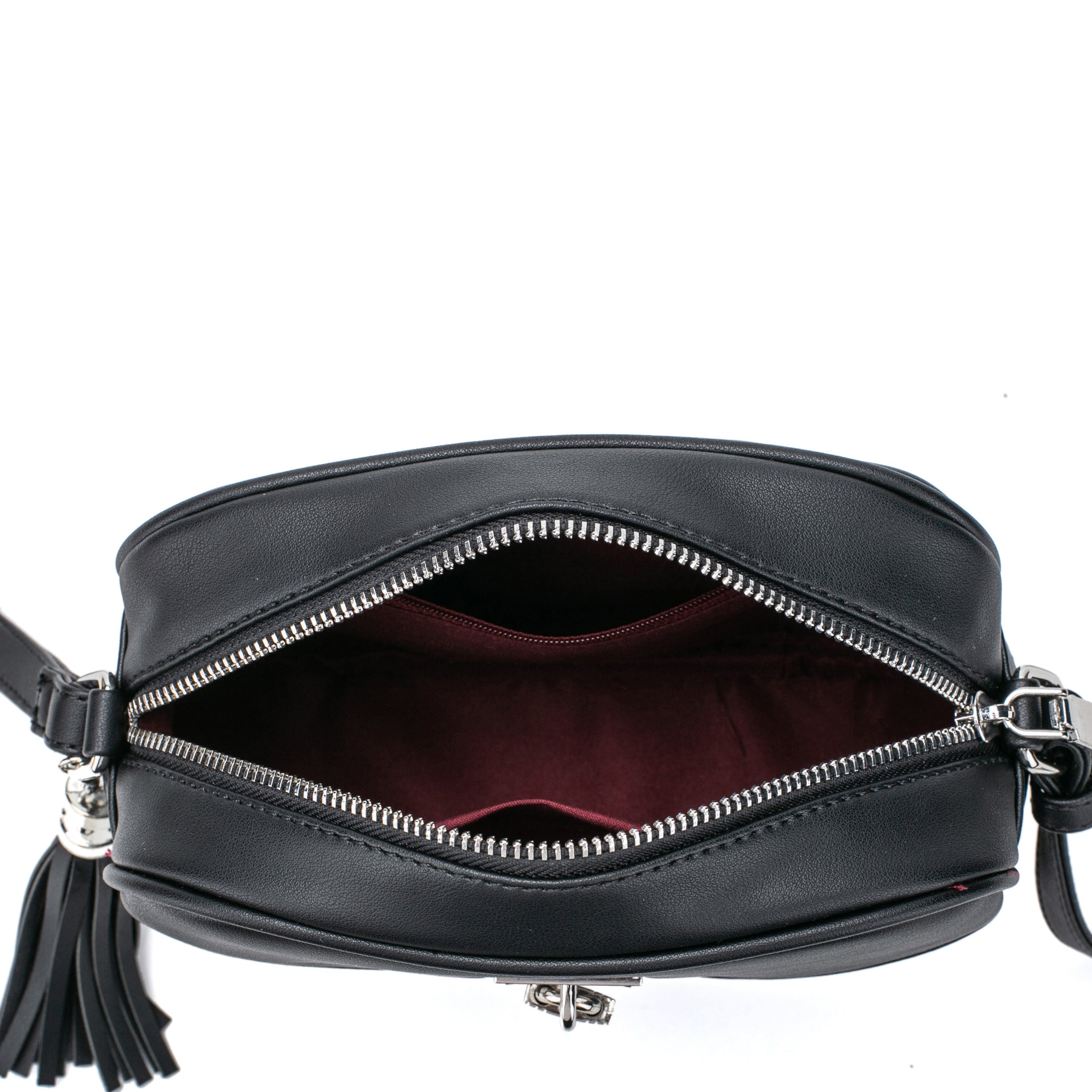 PADLOCK CROSSBODY BAG WITH TASSEL ZIPPER - Jenuine Handbags
