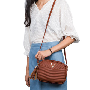 EMBOSSED RECTANGULAR CROSSBODY BAG - Jenuine Handbags