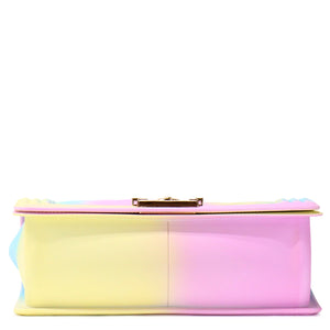 EMBOSSED COTTON CANDY SILICONE SHOULDER BAG - Jenuine Handbags