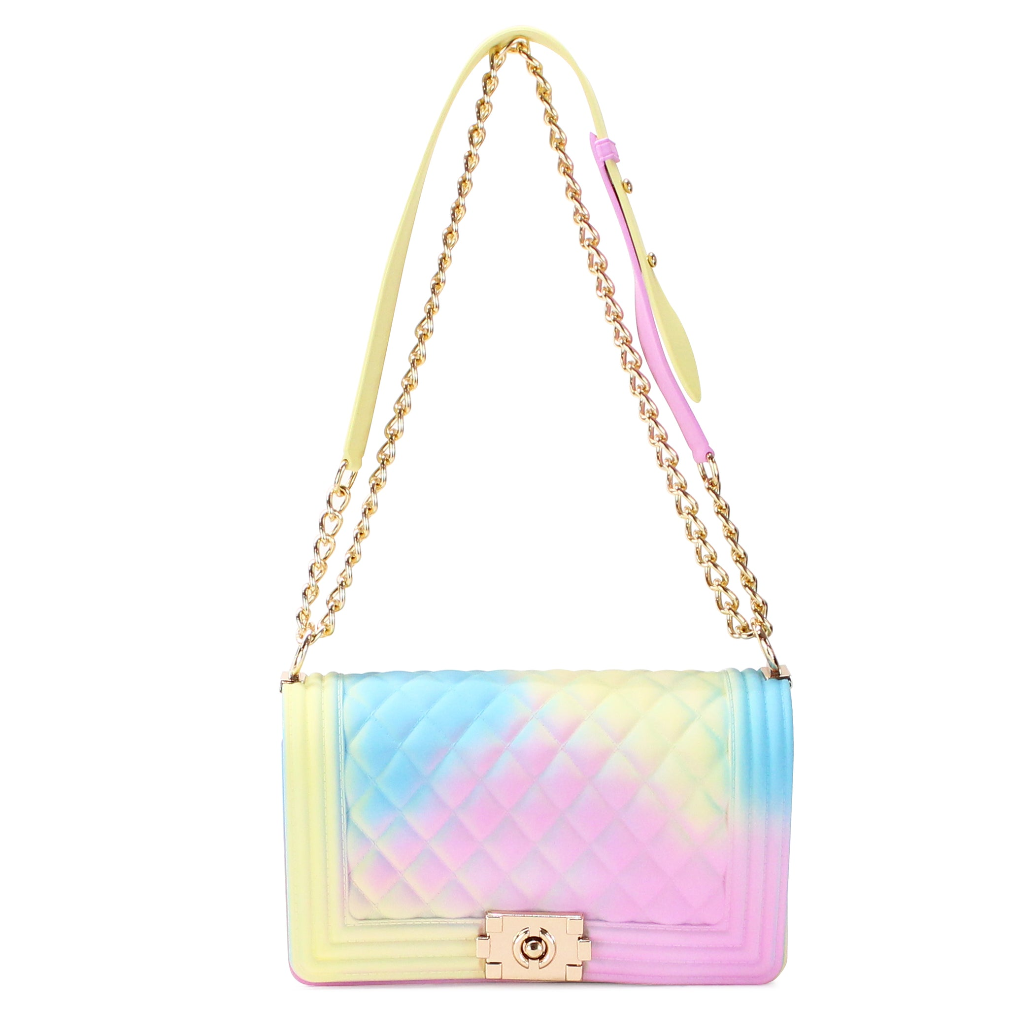 QUILTED COTTON CANDY SILICONE SHOULDER BAG - Jenuine Handbags
