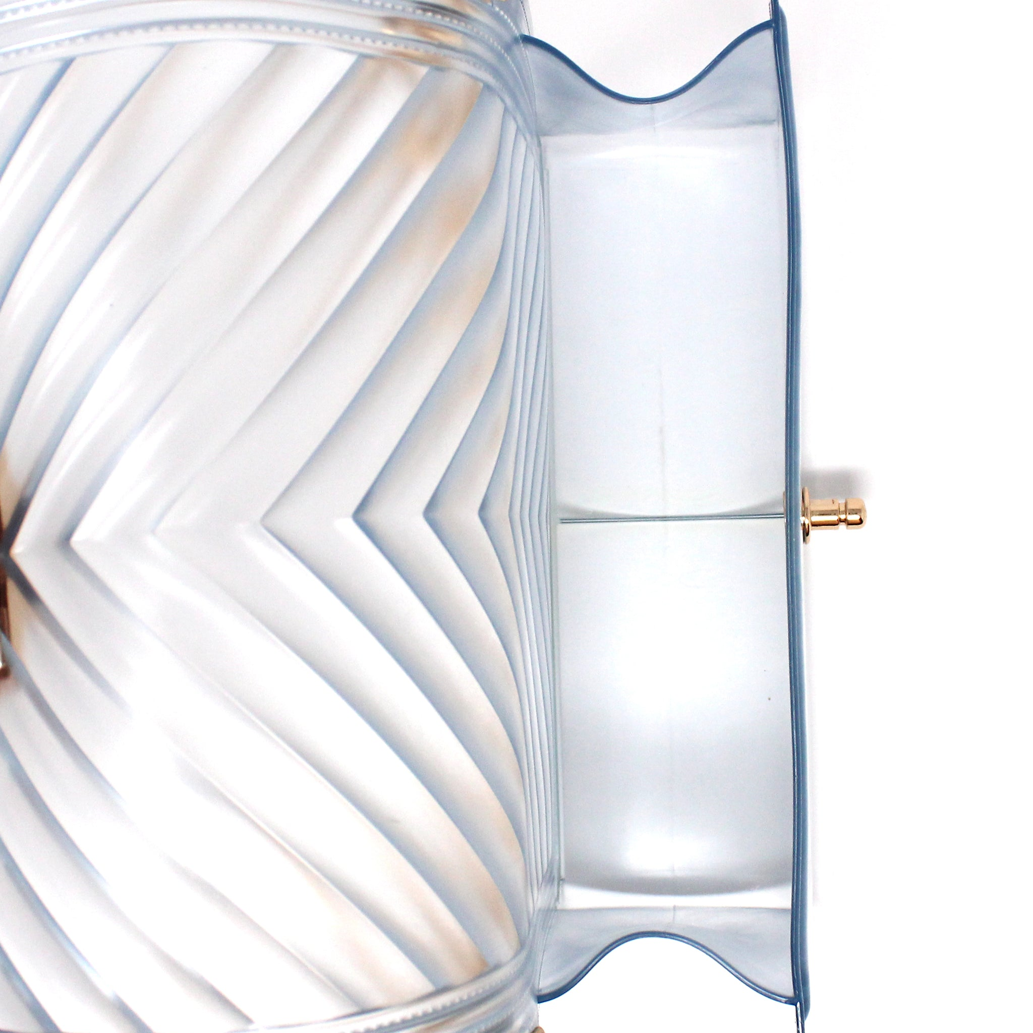 TRANSPARENT JELLY EMBOSSED SHOULDER BAG - Jenuine Handbags