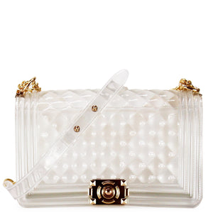 TRANSPARENT JELLY QUILTED SHOULDER BAG - Jenuine Handbags
