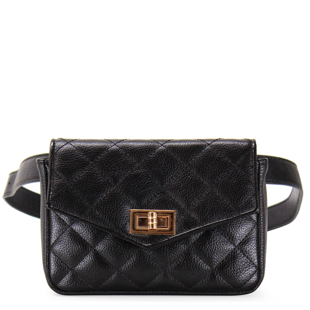 CLASSIC QUILTED WAIST BAG - Jenuine Handbags