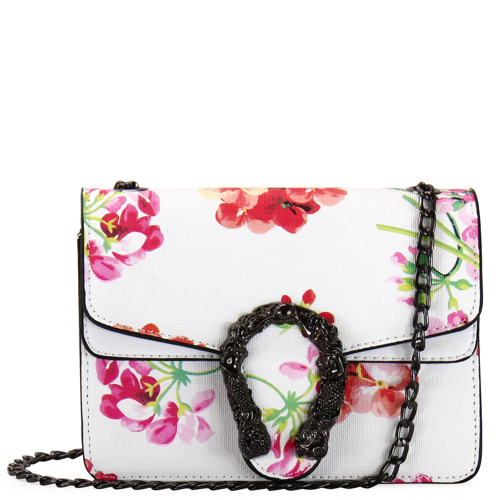 FLOWER PRINT CROSSBODY BAG - Jenuine Handbags