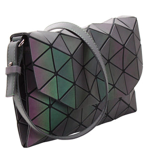 REFLECTIVE GEOMETRIC SHARD CROSSBODY BAG - Jenuine Handbags