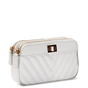 EMBOSSED TRIPLE COMPARTMENT WALLET CLUTCH - Jenuine Handbags