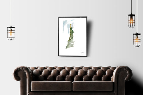 Liberty in the Air Print by Andrea LaHue