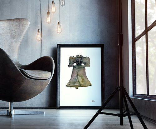 Philly's Liberty Bell Print by Andrea LaHue