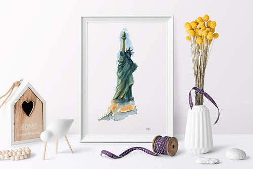 Liberty for All Watercolor Print by Andrea LaHue