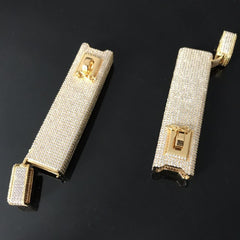 Iced Out Cigarette Box Hip Hop Necklaces