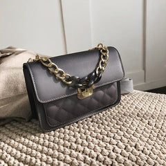 Women Chain Leather Messenger Bags