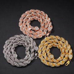 9mm Rope Chain Necklaces & Bracelets