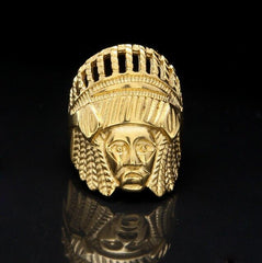 Indian Chief Head Punk Vintage Rings
