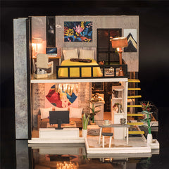 Diy Big Wooden Doll Houses Kitchen Miniature Villa