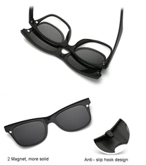 Clip Mirrored Clip on Polarized Sunglasses