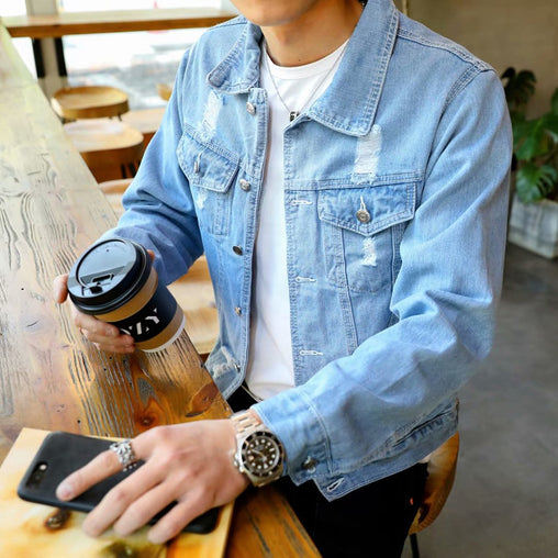 Men's Hip Hop Street Casual Denim Jacket