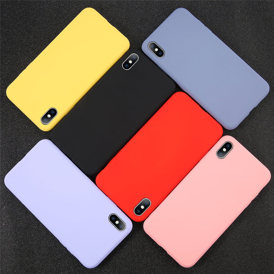 Silicone Solid Color Phone Cases