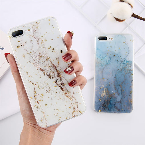 Gold Foil Bling Marble Soft TPU Phone Case