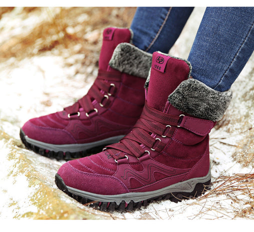 Waterproof Ankle Snow Boots Flat shoes