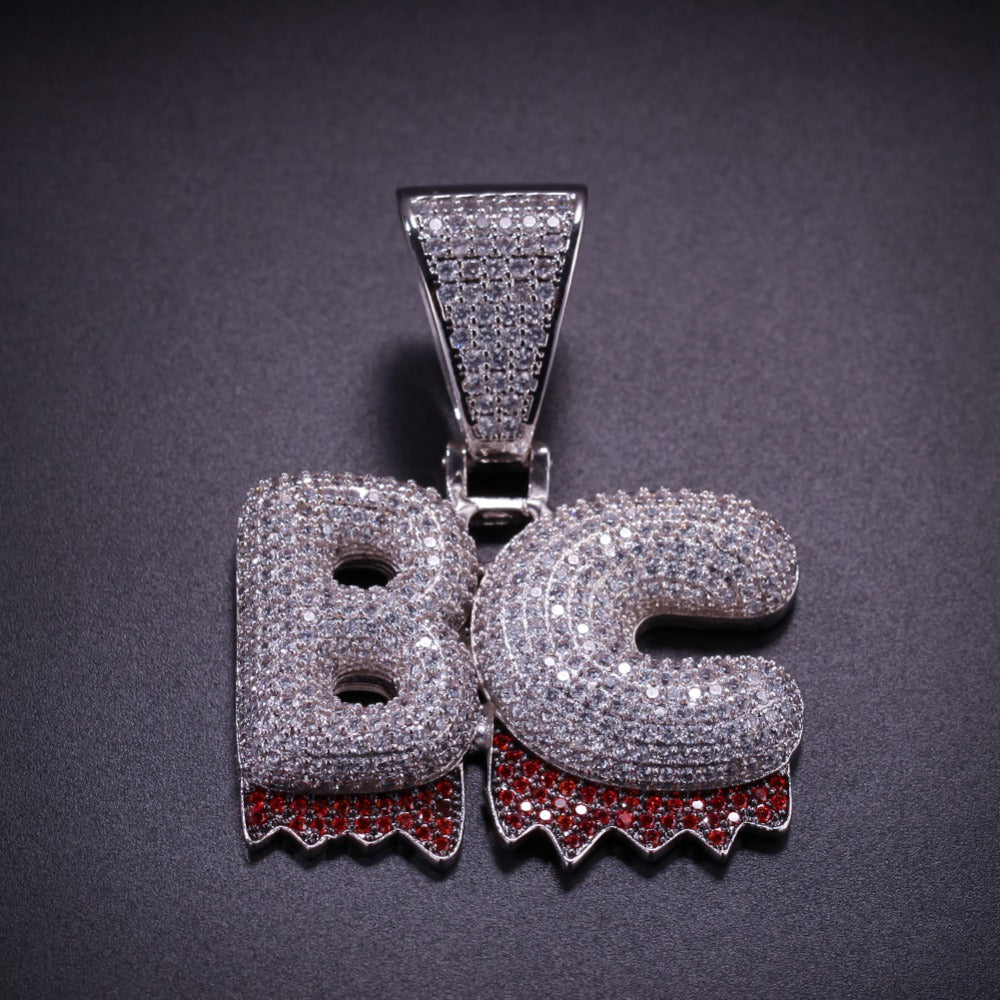 Drip Bubble Custom Letters Pendant