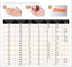 Male Female Zircon Stone Wedding Rings
