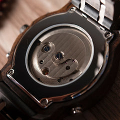 Mechanical Date Display Luxury Wooden Watches