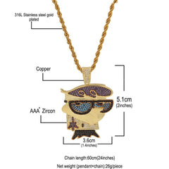 Mr. Bird With Cool Glasses Pendant Necklace