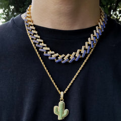 Iced Prong Cuban Link Chains Necklaces