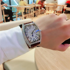 Women Full Diamond Stone Waterproof Watch