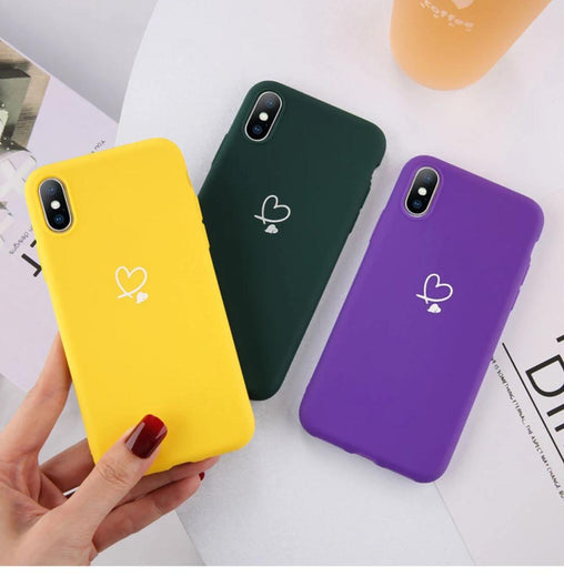 Colorful Love Heart Phone Cases