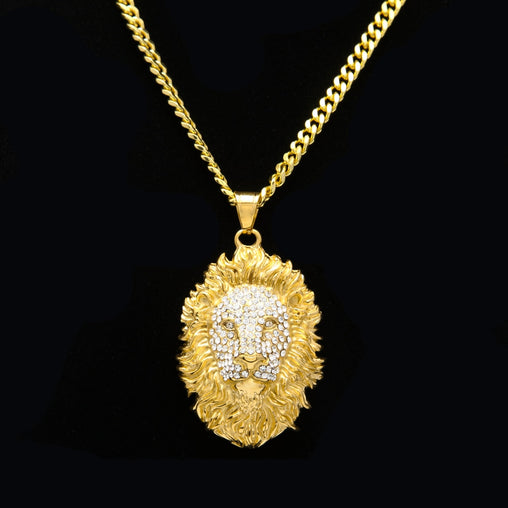 Lion Face Pendant Necklace