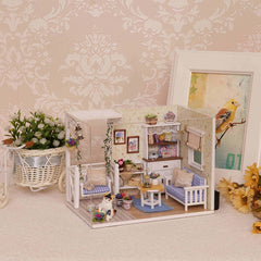 DIY Miniature Dollhouse Model Wooden Toy