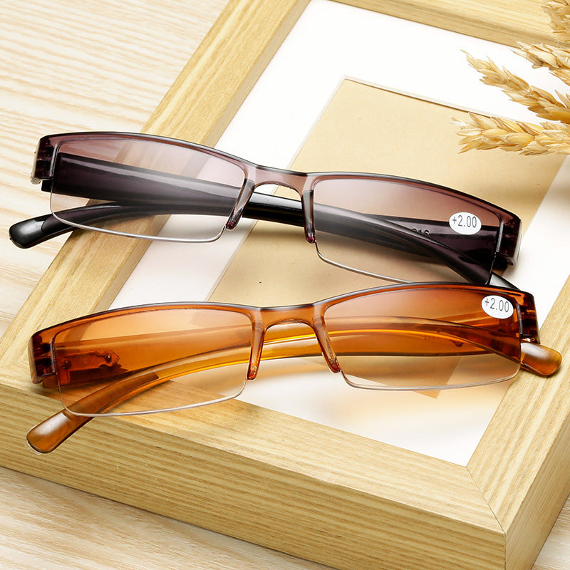 Square Reading Rimless Ultra-light Frameless Glasses