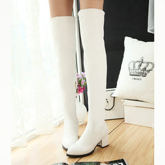 Women Fur Over Knee High Heels Boots