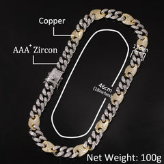 Mix Color Cuban Link Chains Necklace