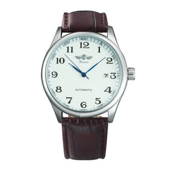 Leather Strap Mechanical Wrist Watches