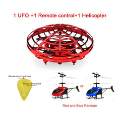 Mini Flying UFO RC Drone Infraed Hand Helicopter Kids Toys