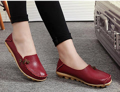 Non Slip Leather Casual Women Shoes