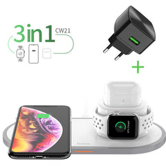 3 In 1 Wireless Watch Phone Charger Pad