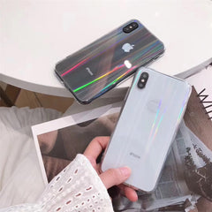 Rainbow Laser Case For iPhone X XR XS Max 11 11 Pro Max 6 6s 7 8