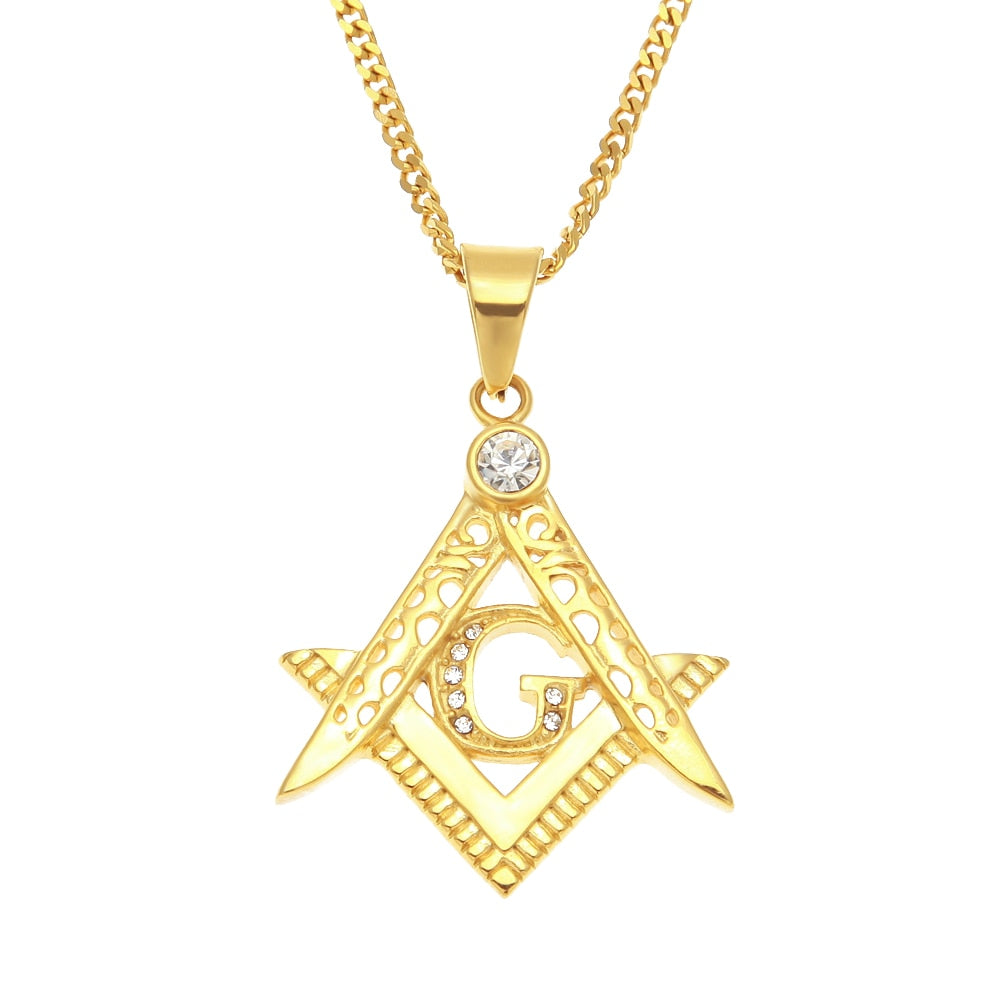 Classic Freemason Men's Pendants Necklace
