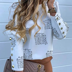 Long Sleeve Woman Tops and Blouse