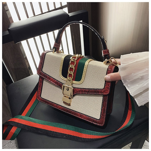 Women Small Crocodile Print Flap Bags