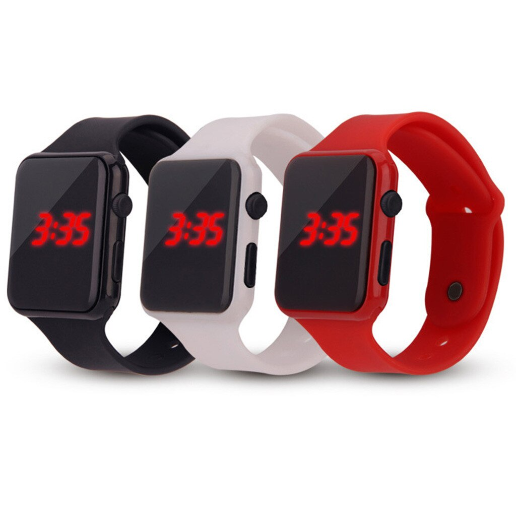 Digital LED Men Women Smart Wrist Watches