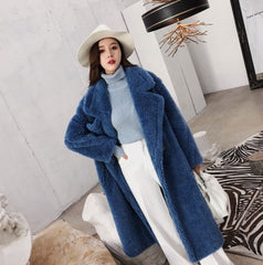 Women Winter Faux Fur Warm Long Coat