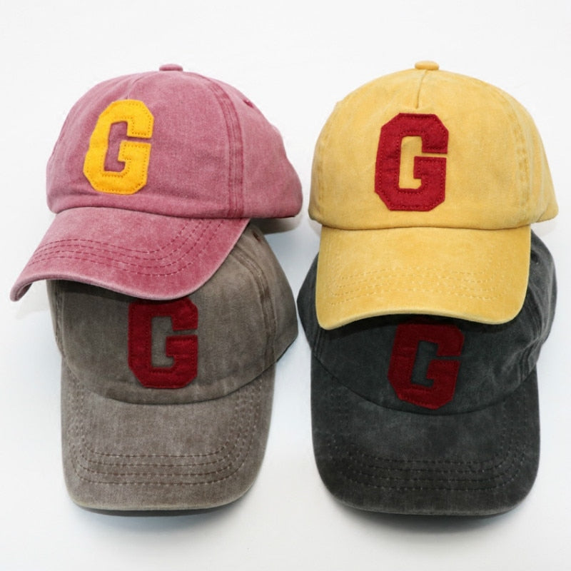 1-5 Years Baby Unisex Baseball Letter Caps