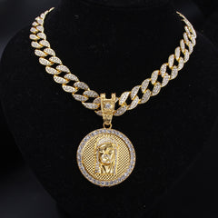 Jesus Head Pendant Hip Hop Necklace